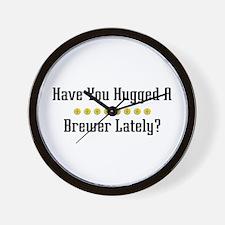 Hugged Brewer Wall Clock