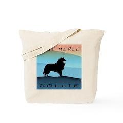 Blue Merle Blue Mt. Collie Tote Bag