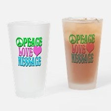 PEACE LOVE PERSONALIZE Drinking Glass