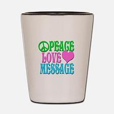 PEACE LOVE PERSONALIZE Shot Glass