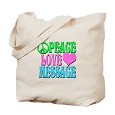 PEACE LOVE PERSONALIZE Tote Bag