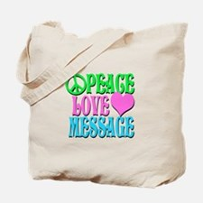 PEACE LOVE PERSONALIZE Tote Bag