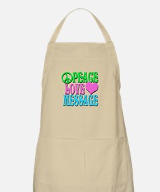 PEACE LOVE PERSONALIZE Apron