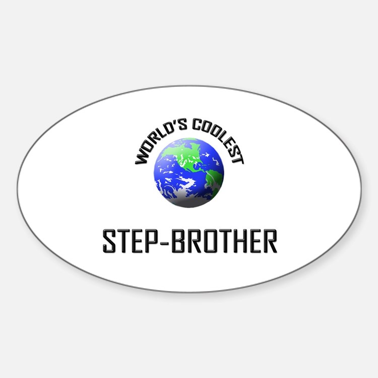 World's Coolest STEP-BROTHER Oval Decal