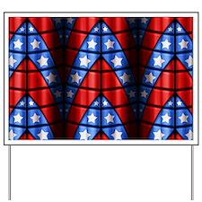 Superheroes - Red Blue White Stars Yard Sign