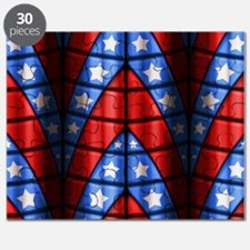 Superheroes - Red Blue White Stars Puzzle