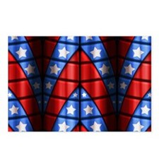 Superheroes - Red Blue Wh Postcards (Package of 8)