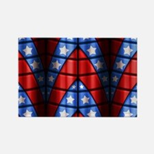 Superheroes - Red Blue White Star Rectangle Magnet