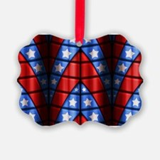 Superheroes - Red Blue White Star Ornament