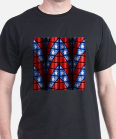 Superheroes - Red Blue White Stars T-Shirt