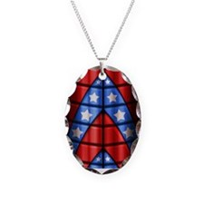 Superheroes - Red Blue White S Necklace