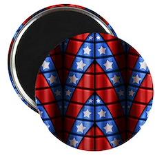 Superheroes - Red Blue White Stars Magnet