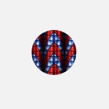 Superheroes - Red Blue Whit Mini Button (100 pack)
