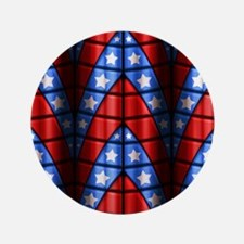 "Superheroes - Red Blue Whit 3.5"" Button (100 pack)"