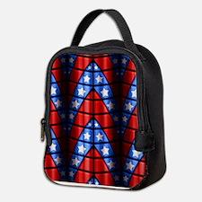 Superheroes - Red Blue White St Neoprene Lunch Bag