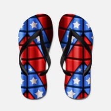 Superheroes - Red Blue White Stars Flip Flops