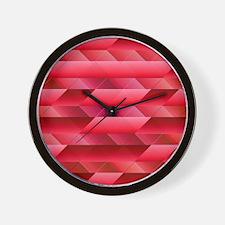 Pinkish red abstract Wall Clock