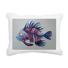 punk fish Rectangular Canvas Pillow