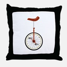 Unicycle Throw Pillow