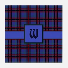 Jewel-Toned Plaid Tile Coaster