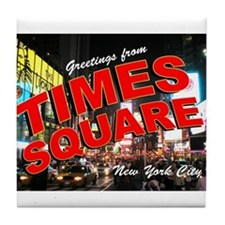 Greetings from New York City Tile Coaster