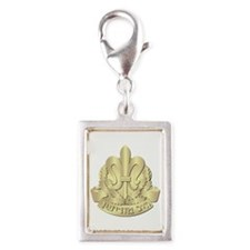 Israel - Intelligence - No T Silver Portrait Charm