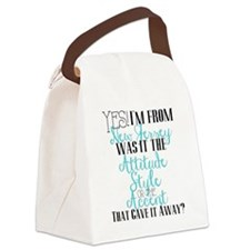 New Jersey Girl (Blue) Canvas Lunch Bag