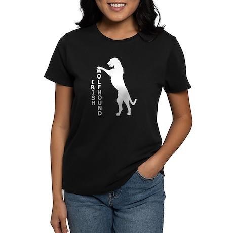 Tall Irish Wolfhound Women's Dark T-Shirt