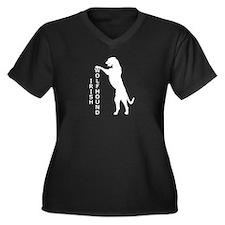 Tall Irish Wolfhound Women's Plus Size V-Neck Dark