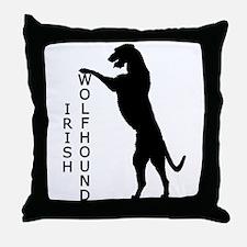 Tall Irish Wolfhound Throw Pillow