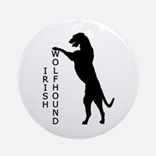 Tall Irish Wolfhound Ornament (Round)