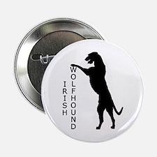 Tall Irish Wolfhound Button