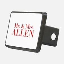 Mr Mrs ALLEN-bod red Hitch Cover