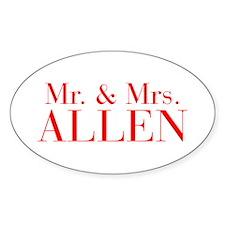 Mr Mrs ALLEN-bod red Decal