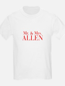 Mr Mrs ALLEN-bod red T-Shirt