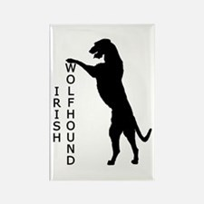 Tall Irish Wolfhound Rectangle Magnet