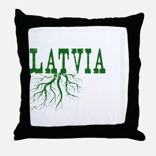 Latvia Roots Throw Pillow