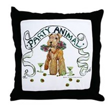 Airedale Terrier Party Throw Pillow
