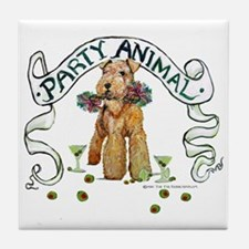 Airedale Terrier Party Tile Coaster