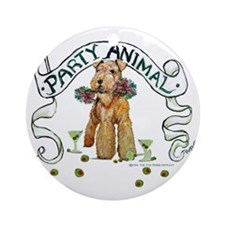 Airedale Terrier Party Ornament (Round)