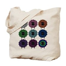 A Rainbow of Sheep Tote Bag