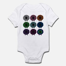 A Rainbow of Sheep Infant Bodysuit