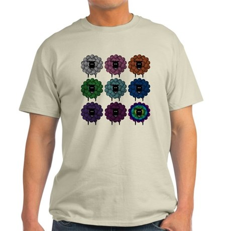 A Rainbow of Sheep Light T-Shirt