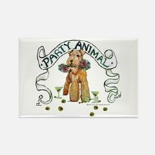 Airedale Terrier Party Rectangle Magnet (10 pack)