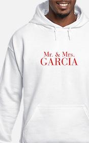 Mr Mrs GARCIA-bod red Hoodie