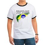 Brazilian flag BJJ ringer tshirt