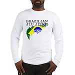 Brazilian flag BJJ Long Sleeve T-Shirt