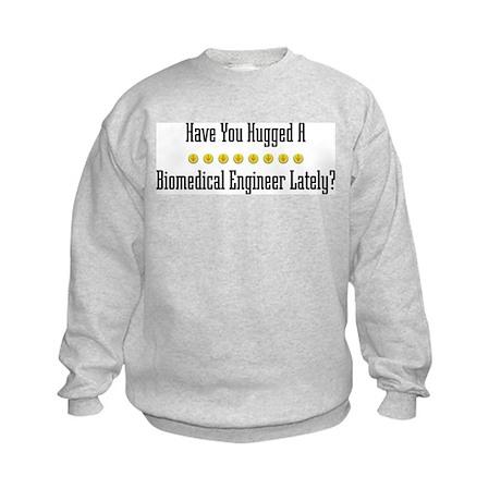 Hugged Biomedical Engineer Kids Sweatshirt