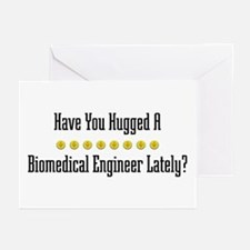 Hugged Biomedical Engineer Greeting Cards (Package