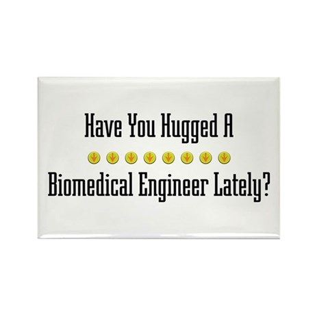 Hugged Biomedical Engineer Rectangle Magnet (100 p